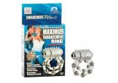 Эрекционное кольцо с массажными шариками и мини вибратором