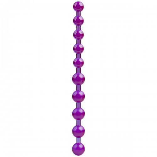 Фиолетовые анальные бусы SPECTRA GELS