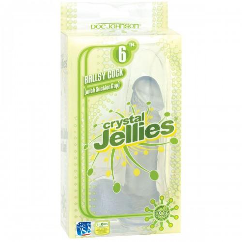 Фаллоимитатор CRYSTALL JELLIES - 15 см.