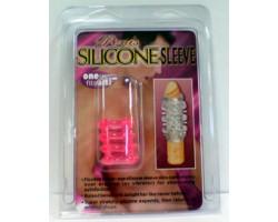 Розовая силиконовая насадка на фаллос