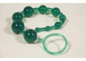 Анальные шарики на жесткой сцепке (зеленые)