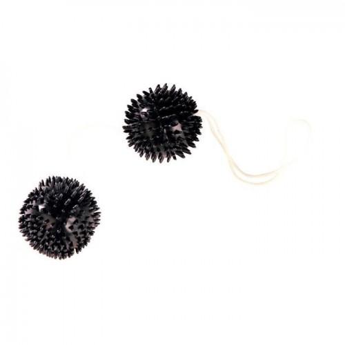 Чёрные вагинальные шарики-ёжики