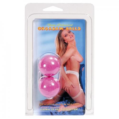 Фиолетовые вагинальные шарики на мягкой сцепке