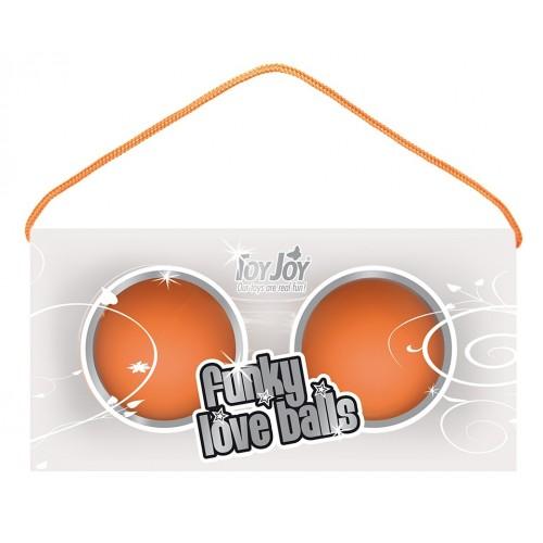 Веселенькие оранжевые вагинальные шарики Funky love balls