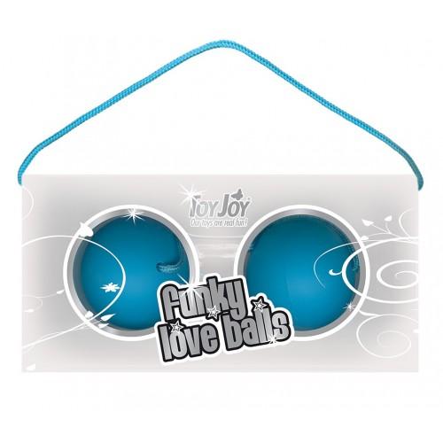 Голубые вагинальные шарики Funky love balls
