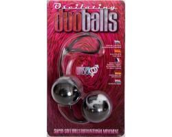 Шарики мягкие вагинальные черные duoballs