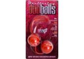 Вагинальные шарики красно-белые со смещенным центром тяжести Duoballs