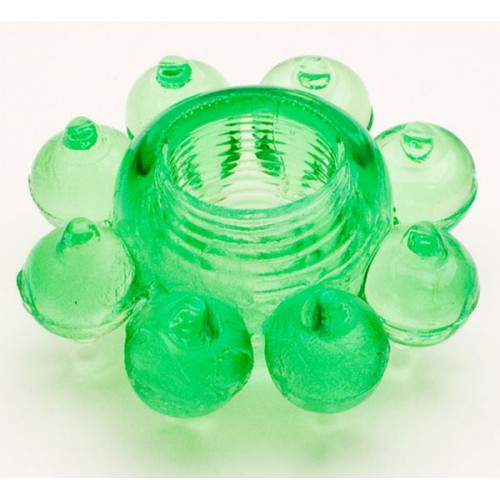 Зеленое эрекционное кольцо-цветок