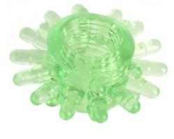 Зеленое эрекционное кольцо с шипами
