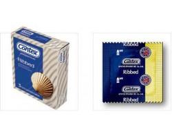 Презервативы ребристые CONTEX №3 Ribbed, 3 шт.
