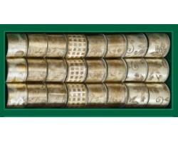 Лента для декорирования кремово-золотая с узором,
