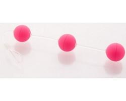 Анальная цепочка из 3-х розовых шариков