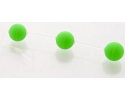 Анальная цепочка из 3-х зеленых шариков