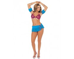 Соблазнительная танцовщица, S-M-L, малиновый с голубым