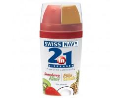 Ароматизированный лубрикант Swiss Navy Lube 2-in-1 Strawberry Kiwi   Pina Colada - 50 мл.