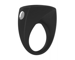 Чёрное эрекционное кольцо B6 с вибрацией