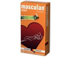 Розовые презервативы Masculan Classic Dotty+Ribbed с колечками и пупырышками - 10 шт.