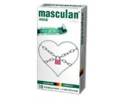 Чёрные ультрапрочные презервативы Masculan Ultra Strong - 10 шт.