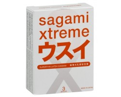 Ультратонкие презервативы Sagami Xtreme SUPERTHIN - 3 шт.