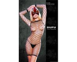 Платье-сетка с длинными рукавами Dupu, S-M-L, черный