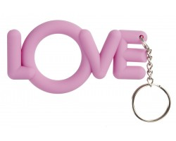Розовое эрекционное кольцо-брелок Love Cocking