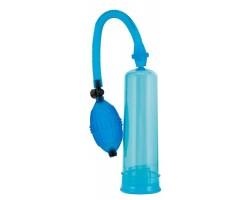 Синяя помпа для вакуумного массажа пениса