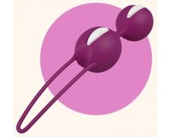 Лиловые вагинальные шарики Smartballs Duo
