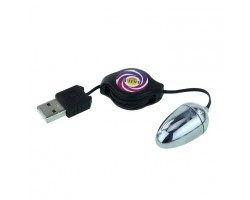 Серебристое виброяйцо с USB-питанием