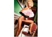 Нежно-розовые трусики-стринги Neon Barock, S-M-L, розовый