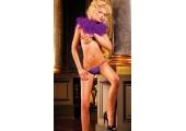 Лиловые трусики-стринг Neon Barock, S-M-L, фиолетовый
