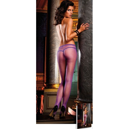 Лиловые колготки-сетка Neon Barock, S-M-L, фиолетовый