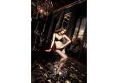 Бюстгальтер Deeper in Hell черный с кружевными краями, мягкими чашечками и косточками, 36D, черный