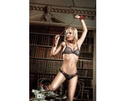 Бюстгальтер Agent Of Love цвета слоновой кости, отделанный черным кружевом с мягкими чашечками, 34D, черный с бежевым