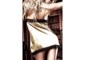Платьице Beauty Inside The Beast золотистое с черными кружевными кромками, S-M, черный с золотым