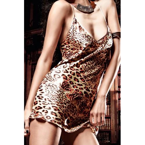 Роскошное мини-платье с леопардовым рисунком Beauty Inside The Beast, M-L, леопард