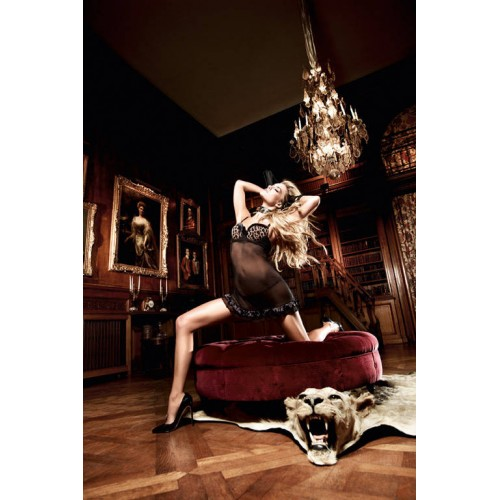 Страстное черное мини-платье Beauty Inside The Beast, M-L, леопард