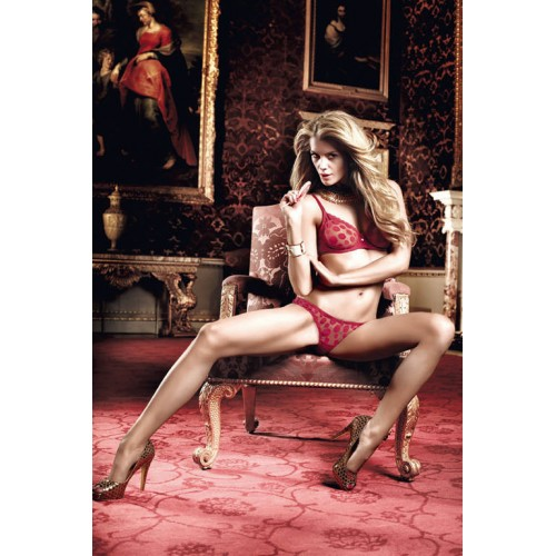Бордовый комплект бикини - бюстгальтер и трусики в горошек Have Fun Princess, S-M, бордовый