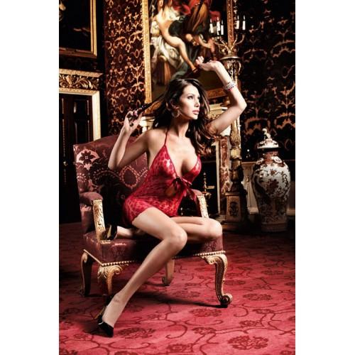 Бордовое платьице в горошек и со шнуровкой спереди Have Fun Princess, S-M-L, бордовый