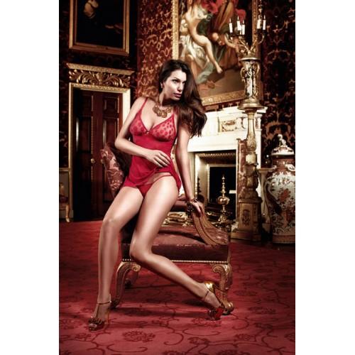 Игривое бордовое прозрачное платьице Have Fun Princess, S-M-L, бордовый