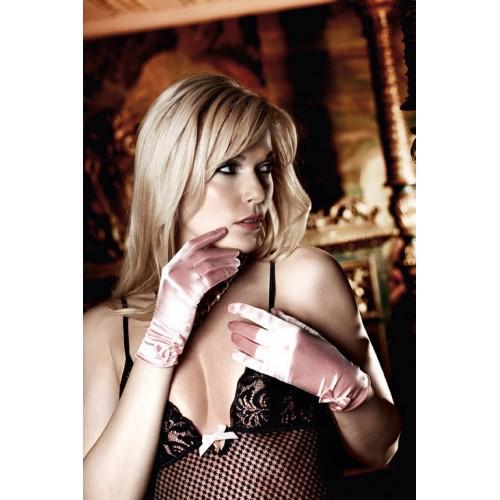Светло-розовые перчатки из сатина с бантиками Have Fun Princess, S-M-L, нежно-розовый