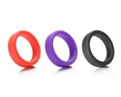 Черное силиконовое эрекционное кольцо