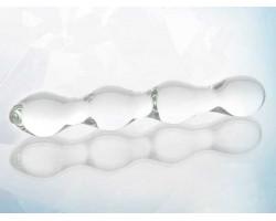 Стеклянный прозрачный фаллоимитатор - 18 см.