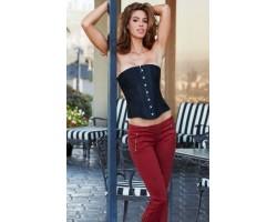 Классический корсет Essential Satin   Lace Corset, XL, черный