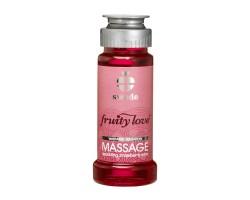 Лосьон для массажа Swede Fruity Love Massage Sparkling Strawberry Wine с ароматом клубничного вина - 50 мл.