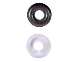 Комплект эрекционных колец STUD RINGS WHITE/BLACK