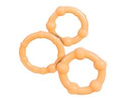 Три телесных эрекционных кольца разного диаметра STAY HARD