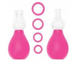 Розовый набор для стимуляции груди