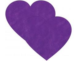 Фиолетовые сердечки-наклейки для груди