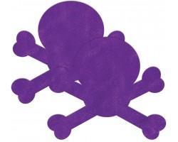 Фиолетовые пестис в форме черепов
