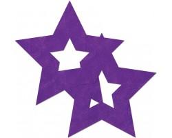 Фиолетовые наклейки-звёздочки на бюст